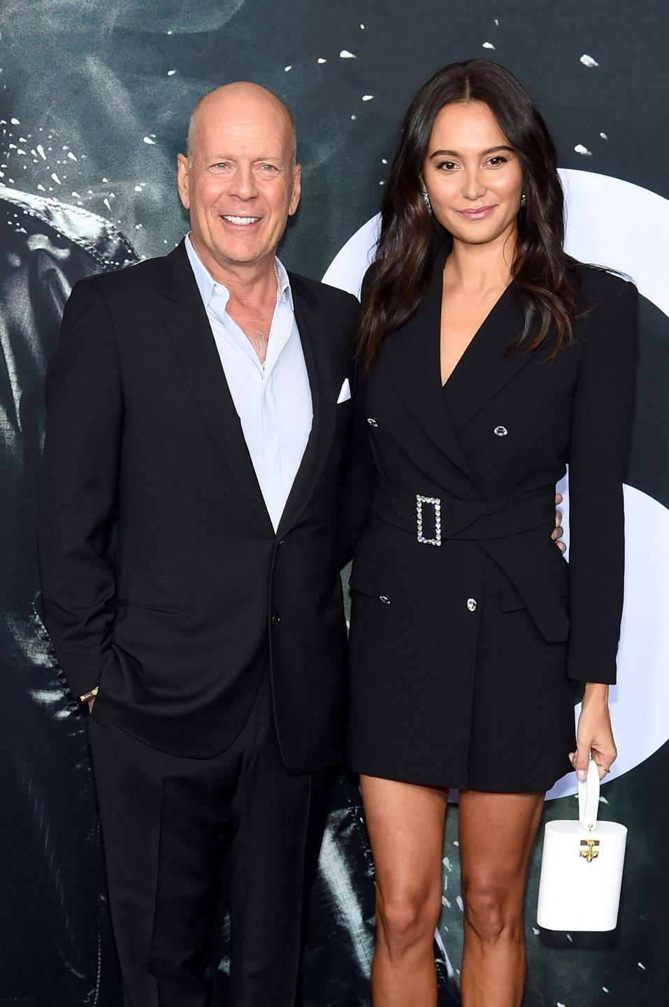 "<p>Married once before (to actress Demi Moore), <em>The Sixth Sense</em> star <a href=""http://www.dailymail.co.uk/tvshowbiz/article-1164038/Bruce-Willis-marries-Demi-double-16-years-younger-Caribbean-ceremony.html"" rel=""nofollow noopener"" target=""_blank"" data-ylk=""slk:married his second"" class=""link rapid-noclick-resp"">married his second</a>, Emma Heming Willis, in 2009. The couple now have two daughters together.</p>"
