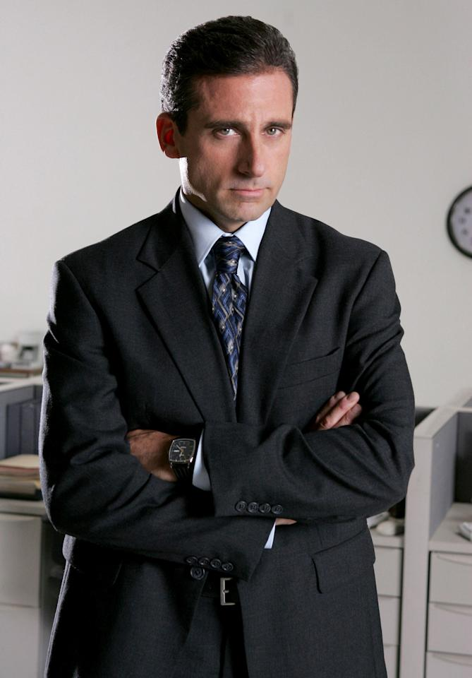 """<span style=""""font-weight:bold;"""">Steve Carell</span> as Michael Scott, """"The Office"""" (2005-present)<br><br>Outstanding Lead Actor in a Comedy Series<br><br>0 wins, 6 consecutive nominations (2005-2011)"""