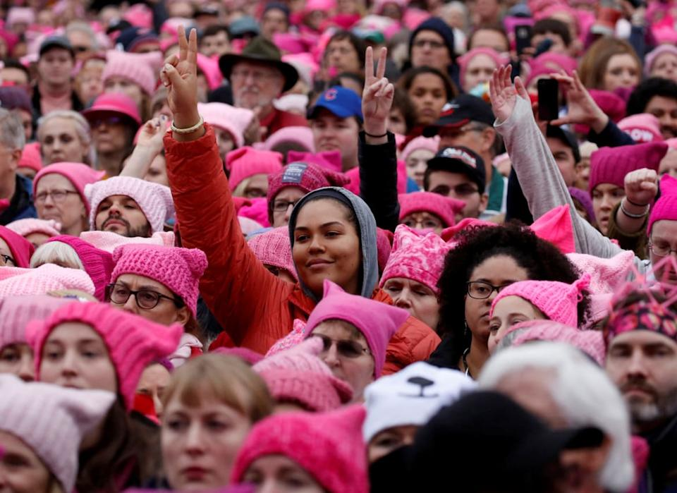 "<div class=""inline-image__caption""><p>People gather for the Women's March in Washington U.S., January 21, 2017. </p></div> <div class=""inline-image__credit"">Shannon Stapleton/Reuters</div>"