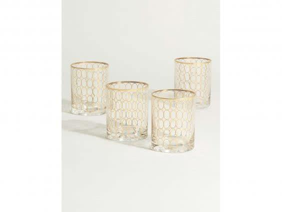 Enjoy your drinks in style with these decadent tumblers (Oliver Bonas)