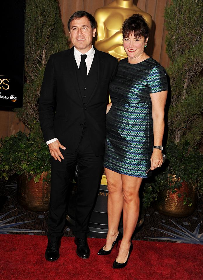 David O. Russell (L) and producer Janet Grillo attend the 85th Academy Awards Nominees Luncheon at The Beverly Hilton Hotel on February 4, 2013 in Beverly Hills, California.  (Photo by Steve Granitz/WireImage)