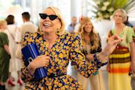 """<p>In case you missed it, also returning to the show is the iconic Bitsy Von Muffling (Julie Halston) who photographer Craig Blakenhorn captured on set. According to Just Like That closet, Bitsy accessorised her floral puff-sleeve blouse with Les Specs X Adam Selman sunglassed.</p><p><a class=""""link rapid-noclick-resp"""" href=""""https://www.farfetch.com/uk/shopping/women/le-specs-le-specs-x-adam-selman-the-last-lolita-sunglasses-item-12575903.aspx"""" rel=""""nofollow noopener"""" target=""""_blank"""" data-ylk=""""slk:SHOP NOW IN RED"""">SHOP NOW IN RED</a> Les Specs X Adam Selman Last Lolita sunglasses, £159<br></p><p><a href=""""https://www.instagram.com/p/CSoc7PlLzfI/"""" rel=""""nofollow noopener"""" target=""""_blank"""" data-ylk=""""slk:See the original post on Instagram"""" class=""""link rapid-noclick-resp"""">See the original post on Instagram</a></p>"""