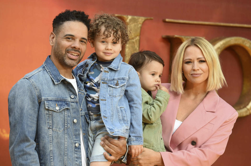 Photo by: KGC-03/STAR MAX/IPx 2019 7/14/19 Kimberley Walsh at the premiere of 'The Lion King' in London, England.