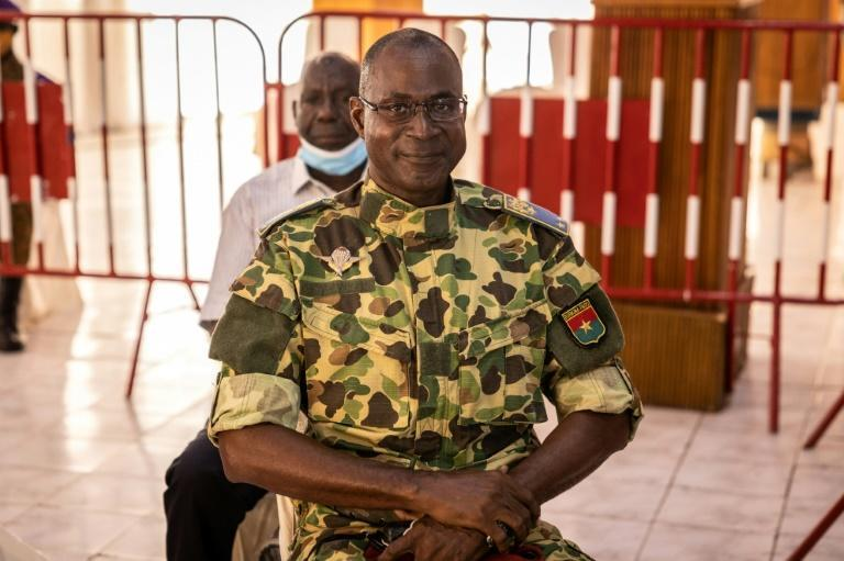 Accused: General Gilbert Diendere in the courtroom (AFP/OLYMPIA DE MAISMONT)