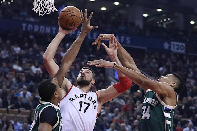 Jonas Valanciunas could be a key figure in this series. (Getty Images)