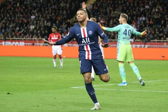 Kylian Mbappe has scored 21 goals in 22 appearances for PSG this season (AFP Photo/VALERY HACHE)