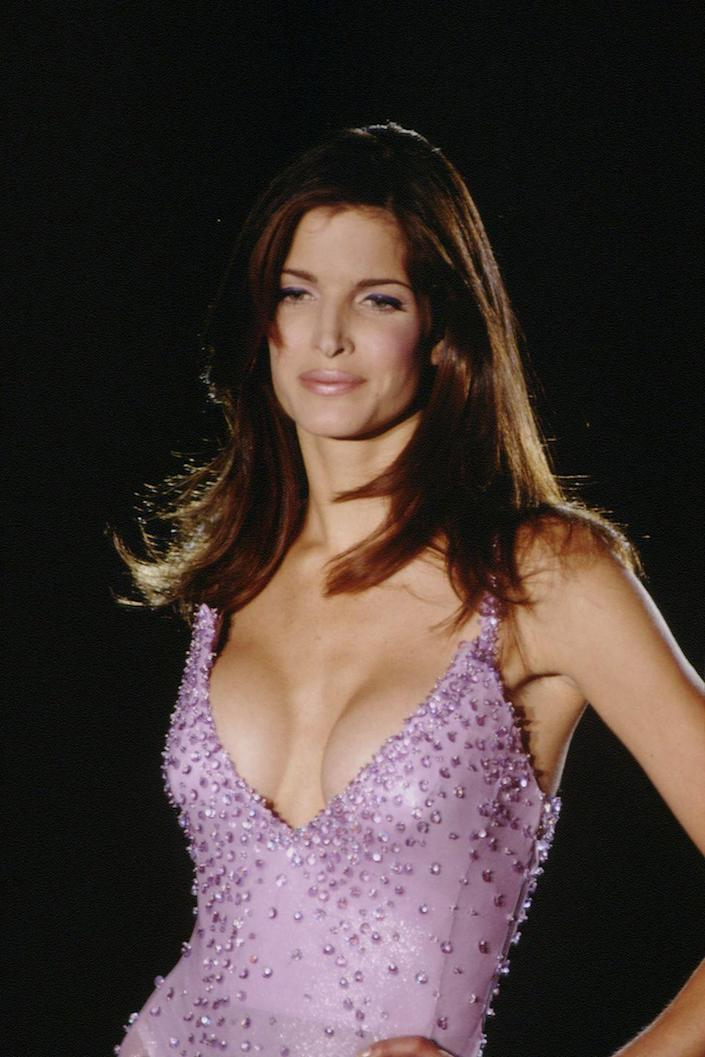 "<p>From covers of <em>Harper's BAZAAR</em> to <em>Playboy</em> to the <em>Sports Illustrated Swimsuit Issue</em>, Seymour (perhaps more than most) was celebrated for her amazing figure. Indeed, photographer Richard Avedon said, per <em><a href=""https://people.com/archive/stephanie-seymour-vol-41-no-17/"" rel=""nofollow noopener"" target=""_blank"" data-ylk=""slk:People"" class=""link rapid-noclick-resp"">People</a>,</em> that she had the ""prefect body""—a distinction that brands like Versace, Alaïa, and Victoria's Secret highlighted on their catwalks and in their campaigns. And for music fans, the California native is best remembered for starring in Guns N' Roses' video for ""November Rain.""</p>"