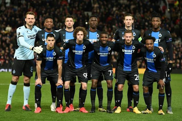 Club Brugge held a 15-point lead at the top of the Belgian Pro League when the season was suspended in March (AFP Photo/Oli SCARFF )