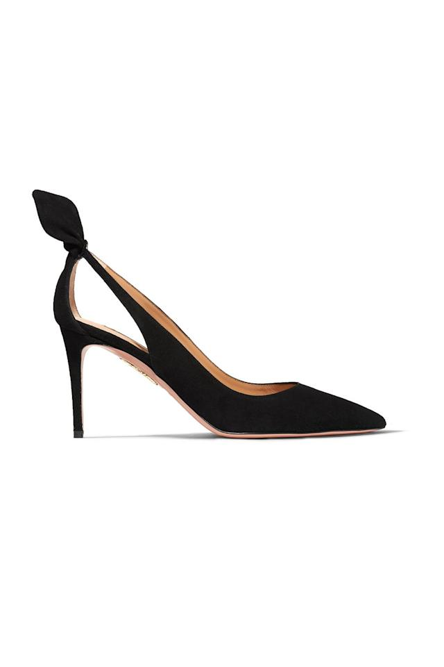 """<p><strong>Aquazzura</strong></p><p>Net-a-Porter</p><p><strong>$750.00</strong></p><p><a href=""""https://go.redirectingat.com?id=74968X1596630&url=https%3A%2F%2Fwww.net-a-porter.com%2Fus%2Fen%2Fproduct%2F1178349&sref=http%3A%2F%2Fwww.marieclaire.com%2Ffashion%2Fg28541046%2Fmeghan-markle-favorite-brands%2F"""" target=""""_blank"""">SHOP IT</a></p><p>Aquazzura is to Meghan Markle as Alexander McQueen is to Kate Middleton. She's been spotted wearing <a href=""""https://www.marieclaire.com/fashion/a25396993/meghan-markle-favorite-shoes/"""" target=""""_blank"""">several pairs of Aquazzura pumps and sandals</a> throughout the past couple years. She chose this specific pair to wear to Charlie van Straubenzee's wedding last August and even <a href=""""https://www.marieclaire.com/fashion/a21590919/meghan-markle-aquazzura-shoes-celia-mccorquodale-wedding/"""" target=""""_blank"""">wore a pair from the brand on her wedding day</a>. </p>"""