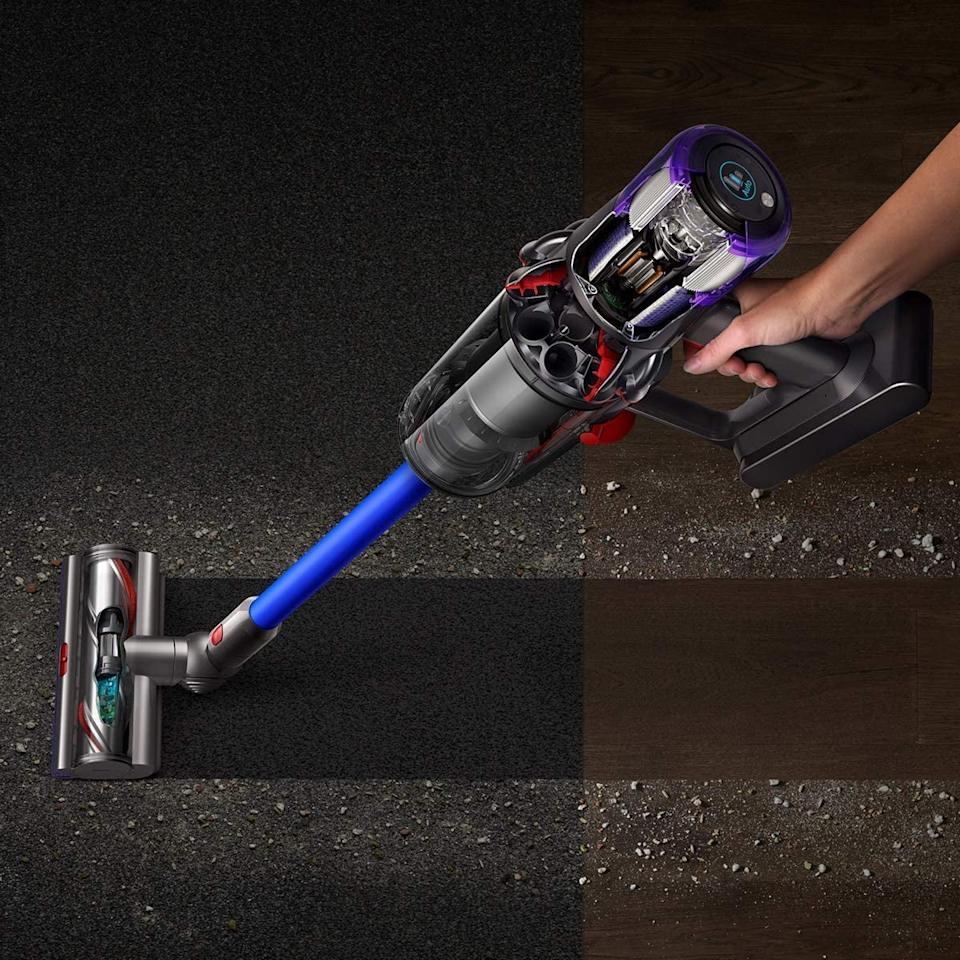 """<p>There's no doubt that owning this <product href=""""https://www.amazon.com/Dyson-Torque-Cordless-Vacuum-Cleaner/dp/B07NX8XBMP/ref=sr_1_3?crid=3PJBHMEB1A56J&amp;dchild=1&amp;keywords=dyson+vacuum+cleaner&amp;qid=1598914304&amp;sprefix=dyson+vac%2Caps%2C351&amp;sr=8-3"""" target=""""_blank"""" class=""""ga-track"""" data-ga-category=""""internal click"""" data-ga-label=""""https://www.amazon.com/Dyson-Torque-Cordless-Vacuum-Cleaner/dp/B07NX8XBMP/ref=sr_1_3?crid=3PJBHMEB1A56J&amp;dchild=1&amp;keywords=dyson+vacuum+cleaner&amp;qid=1598914304&amp;sprefix=dyson+vac%2Caps%2C351&amp;sr=8-3"""" data-ga-action=""""body text link"""">Dyson V11 Torque Drive Cordless Vacuum</product> ($600, originally $700) will make cleaning up easier. The powerhouse vacuum has so many useful attachments and settings that can suck up dirt, pet hair, and more.</p>"""