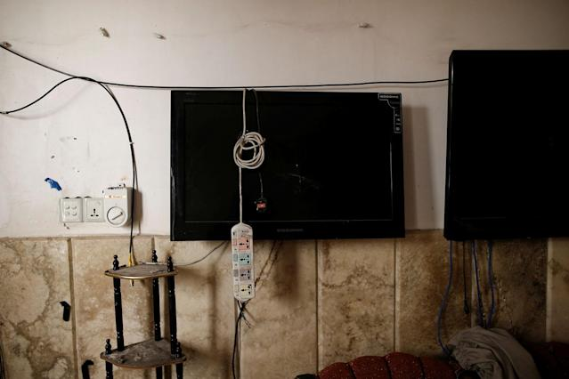 <p>Damaged surveillance monitors are seen in the control room in a compound used as a prison by Islamic State militants in the 17 Tamuz (July 17) district, in western Mosul, Iraq, June 6, 2017. (Alkis Konstantinidis/Reuters) </p>