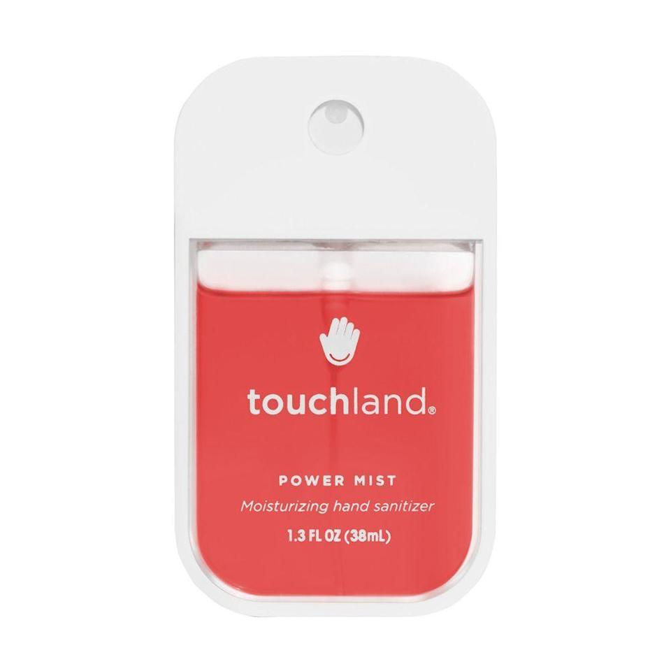 """<p><strong>Touchland</strong></p><p>ulta.com</p><p><strong>$12.00</strong></p><p><a href=""""https://go.redirectingat.com?id=74968X1596630&url=https%3A%2F%2Fwww.ulta.com%2Fpower-mist-watermelon%3FproductId%3Dpimprod2012305&sref=https%3A%2F%2Fwww.bestproducts.com%2Fbeauty%2Fg33277172%2Fbest-hand-sanitizers%2F"""" rel=""""nofollow noopener"""" target=""""_blank"""" data-ylk=""""slk:Shop Now"""" class=""""link rapid-noclick-resp"""">Shop Now</a></p><p>Touchland's must-have hand sanitizers are as trendy as <a href=""""//www.bestproducts.com/lifestyle/g32601358/tie-dye-kits/"""" data-ylk=""""slk:tie-dye projects"""" class=""""link rapid-noclick-resp"""">tie-dye projects</a>, <a href=""""//www.bestproducts.com/lifestyle/g20054950/cool-jigsaw-puzzles-for-adults/"""" data-ylk=""""slk:puzzles"""" class=""""link rapid-noclick-resp"""">puzzles</a>, and bread-making, but it's what's inside of their super sleek packaging that'll influence any germaphobe. </p><p>From their sweet range of scents, to their speedy absorption, and most importantly, their hydrating, germ-busting benefits, <a href=""""https://www.bestproducts.com/beauty/a33264354/touchland-power-mist-hand-sanitizer-review/"""" rel=""""nofollow noopener"""" target=""""_blank"""" data-ylk=""""slk:there's so much to love"""" class=""""link rapid-noclick-resp"""">there's so much to love</a> in such a small, sprayable bottle.</p><p><strong>More: </strong><a href=""""//www.bestproducts.com/lifestyle/g32303992/where-to-buy-cloth-face-masks/"""" data-ylk=""""slk:Wear a Cloth Face Mask in Public to Help Stop the Spread"""" class=""""link rapid-noclick-resp"""">Wear a Cloth Face Mask in Public to Help Stop the Spread</a></p>"""