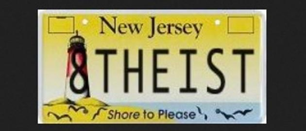 Devout, angry atheist finds new thing sue angrily about: VANITY PLATES