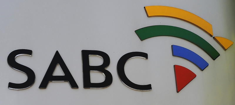 The logo of South African Broadcasting Corporation at its headquarters in Johannesburg on October 20, 2010