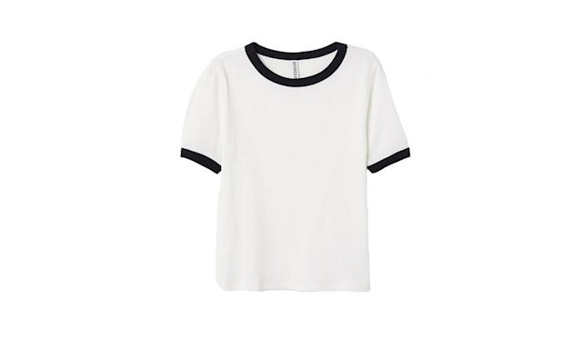 "<p>Ribbed T-shirt, $13, <a href=""http://www.hm.com/us/product/04225?article=04225-B&cm_vc=SEARCH"" rel=""nofollow noopener"" target=""_blank"" data-ylk=""slk:hm.com"" class=""link rapid-noclick-resp"">hm.com</a> </p>"