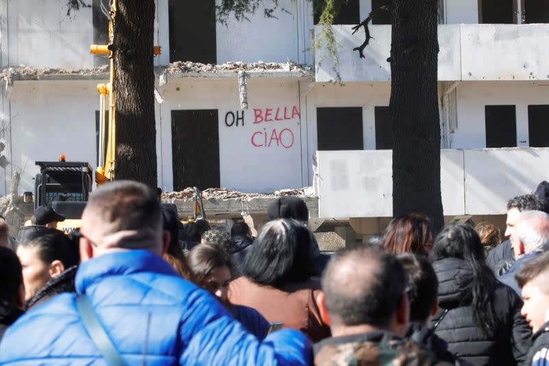 Diggers tear into infamous Italian slum that inspired TV mob show