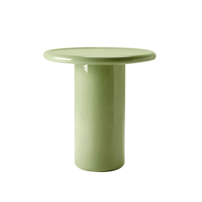 """<p>Designed exclusively for The Conran Shop, the clean lines of this colour-pop design are formed using intensive ceramic firing and glazing techniques, which make it incredibly durable and resistant to heat and staining. There are four colours to choose from, and it has a squatter sibling, too. £395, <a href=""""https://go.redirectingat.com?id=127X1599956&url=https%3A%2F%2Fwww.conranshop.co.uk%2F&sref=https%3A%2F%2Felledecoration.co.uk%2Fdesign%2Fg37395542%2Fside-table%2F"""" rel=""""nofollow noopener"""" target=""""_blank"""" data-ylk=""""slk:conranshop.co.uk"""" class=""""link rapid-noclick-resp"""">conranshop.co.uk</a></p>"""