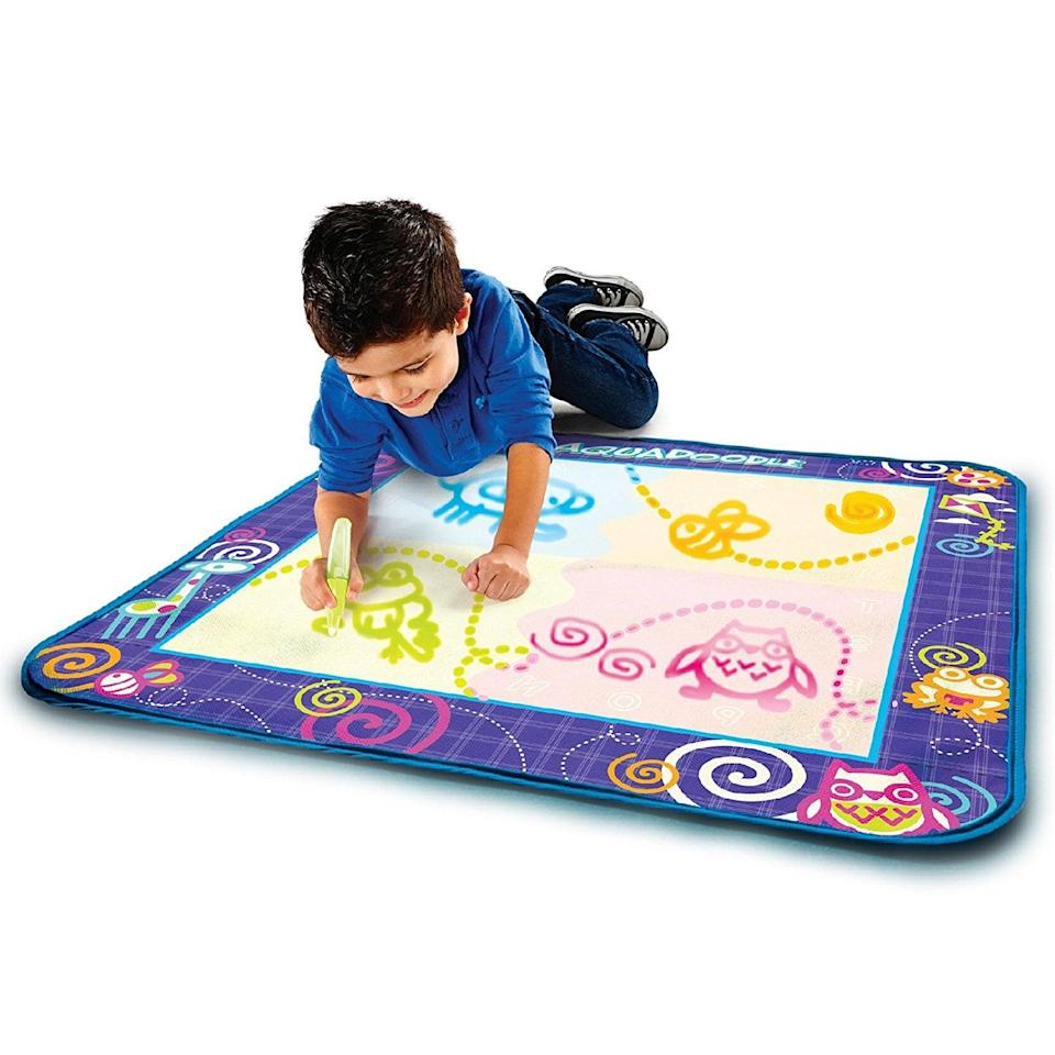 <p>A mat that runs totally on water and eliminates mess is every parent's dream. The <span>AquaDoodle Drawing Mat</span> ($22) also comes with a special for-the-mat-only pen that lets their imagination go wild.</p>
