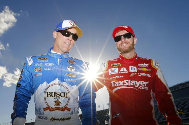 Kevin Harvick and Dale Earnhardt Jr. (Getty)