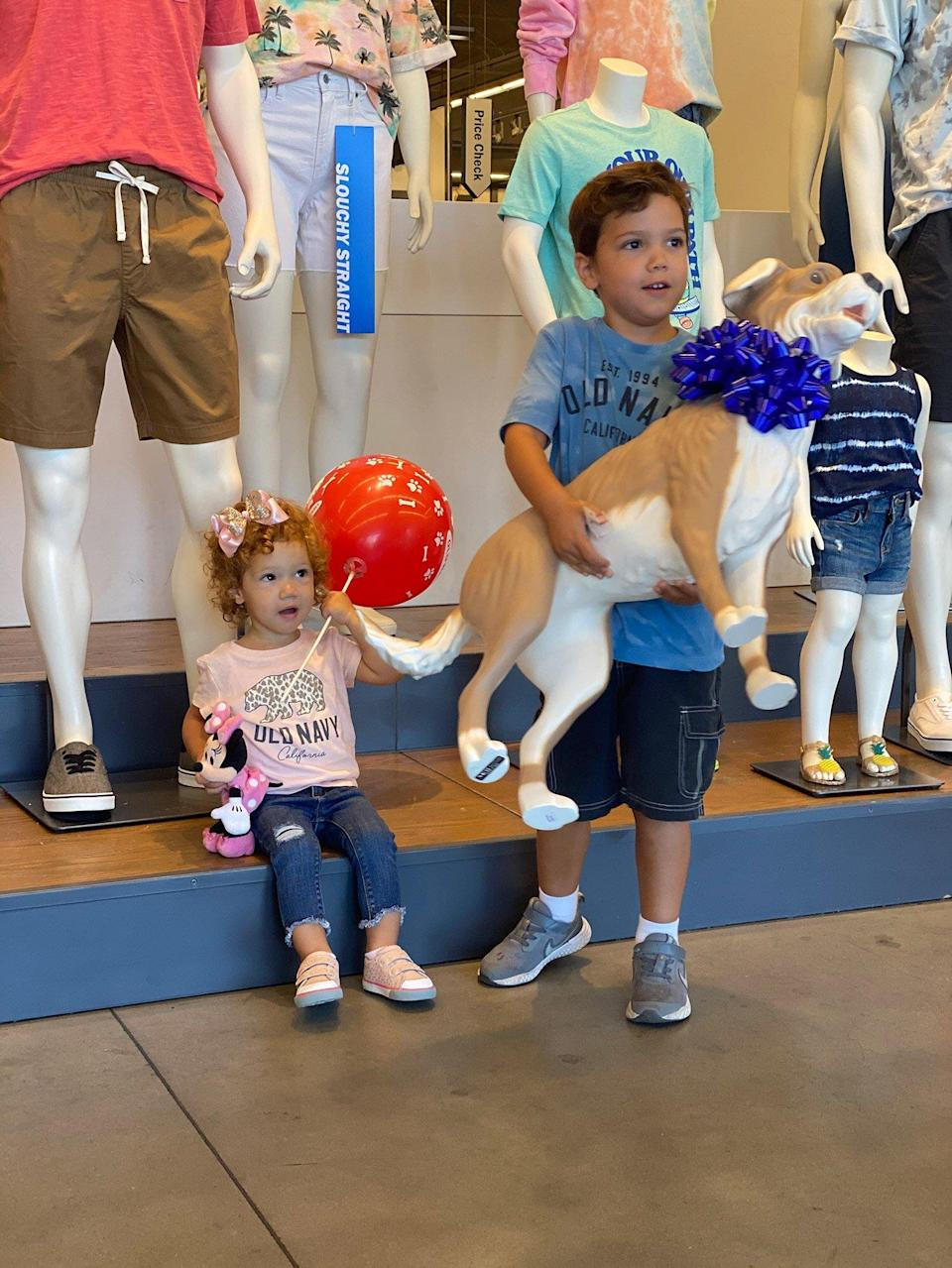 Old Navy Surprises 5-Year-Old Boy with Autism with 'Magic' Store Dog That Brings Him Joy