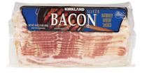 <p>Costco's Kirkland Signature brand is the way to go here. You get so much delicious bacon. For so little money! Good, cheap bacon! Why else are we on this planet??</p>