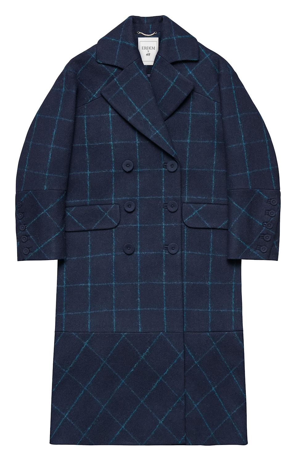 """<p>Checks are major news this season so what better way to celebrate than to invest in Erdem's navy offering? <em><a rel=""""nofollow noopener"""" href=""""http://www2.hm.com/en_gb/index.html"""" target=""""_blank"""" data-ylk=""""slk:H&M"""" class=""""link rapid-noclick-resp"""">H&M</a>, £149.99</em> </p>"""