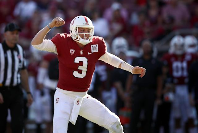 It was a tough start to the season for Stanford QB K.J. Costello, but he has a chance to rally his NFL draft stock. (Getty Images)