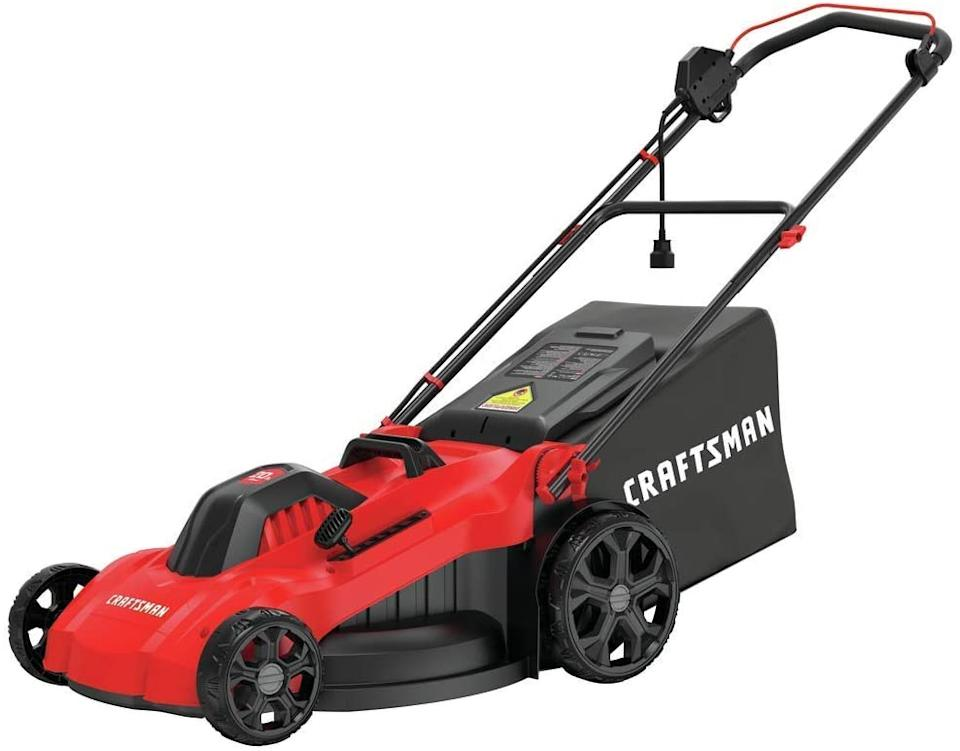 Craftsman 20-in 13-Amp Corded Lawn Mower. Image via Amazon.