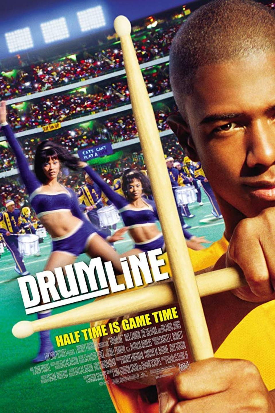 """<p>For a fascinating glimpse into the world of marching bands, look no further. A Harlem native street drummer (<strong>Nick Cannon</strong>) gets recruited to play in a marching band at a predominately black college. He's expected to lead the band, but he finds out that it takes more than talent to reach to the top.</p><p><a class=""""link rapid-noclick-resp"""" href=""""https://www.amazon.com/Drumline-Nick-Cannon/dp/B000I9X67M/ref=sr_1_2?dchild=1&keywords=DRUMLINE&qid=1596922881&sr=8-2&tag=syn-yahoo-20&ascsubtag=%5Bartid%7C10055.g.33513354%5Bsrc%7Cyahoo-us"""" rel=""""nofollow noopener"""" target=""""_blank"""" data-ylk=""""slk:WATCH NOW"""">WATCH NOW</a></p>"""