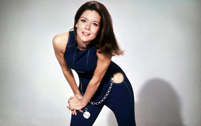 Diana Rigg as Emma Peel - ABC Weekend Television/Associated British Corporation/Sunset Boulevard/Corbis via Getty Images
