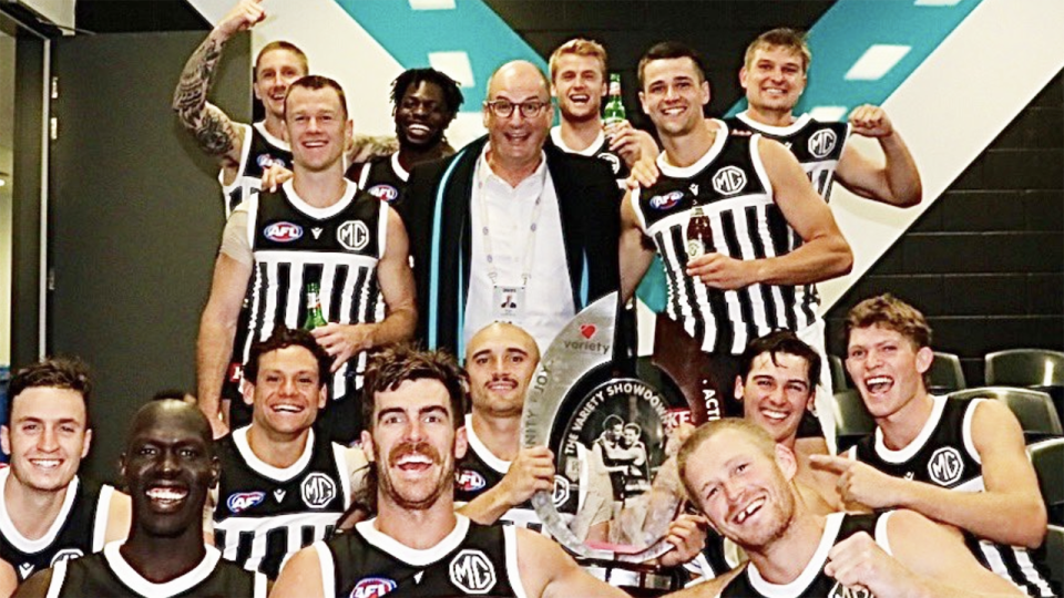 Port Adelaide chairman David Koch has accused Eddie McGuire of having a 'nasty' habit of attacking the appearance of people he doesn't like. Picture: Twitter/David Koch