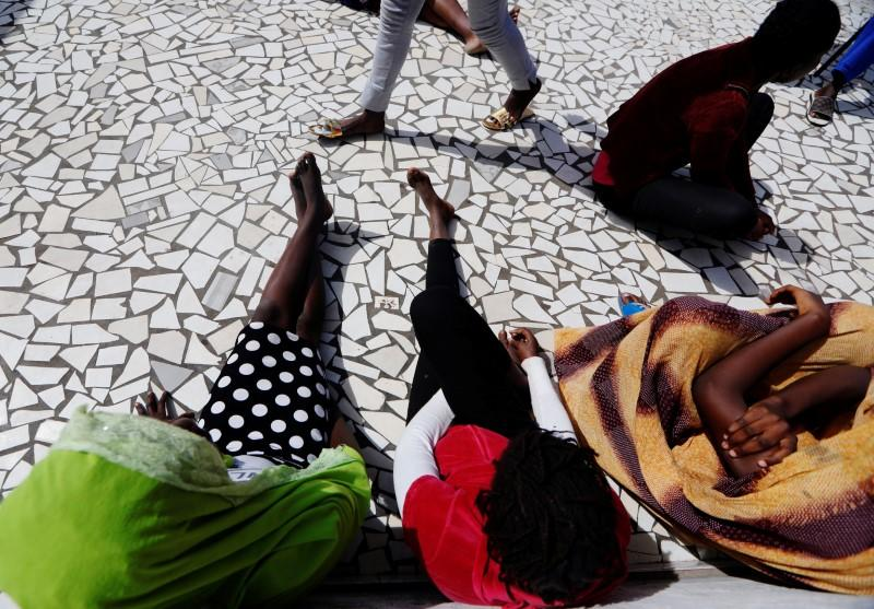 Youth who said she was raped by her friend, sits with other women at La Maison Rose in Dakar