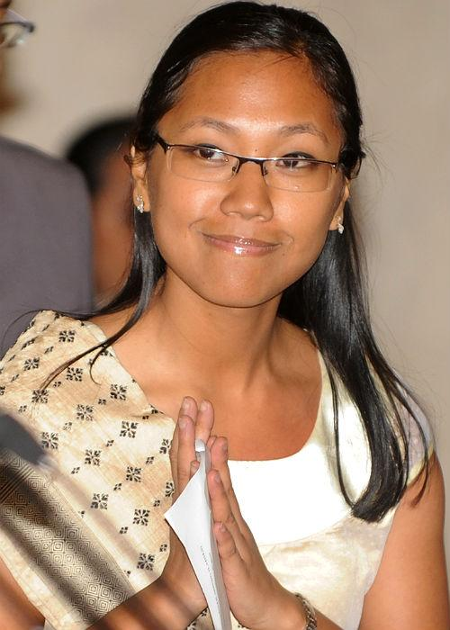 """<p class=""""MsoNormal""""><b>Agatha Sangma</b>: A lawyer, environmentalist and amateur photographer, Agatha Sangma completed her masters at Nottingham University, and later joined the bar at the Delhi High Court. Following her father's footsteps, P. A. Sangma, former speaker of the Lok Sabha, Agatha Sangma was elected to the 14<sup>th</sup> Lok Sabha in 2008. She has also served as minister of state for Rural Development at the age of 29, making her the youngest member of cabinet. Her style reflects her youthful energy; she sports trendy shirts and elegant salwar suits accessorized with a pair of chic spectacles, a bindi or long earrings, and has even been spotted wearing a pair of bold purple pumps. </p>"""