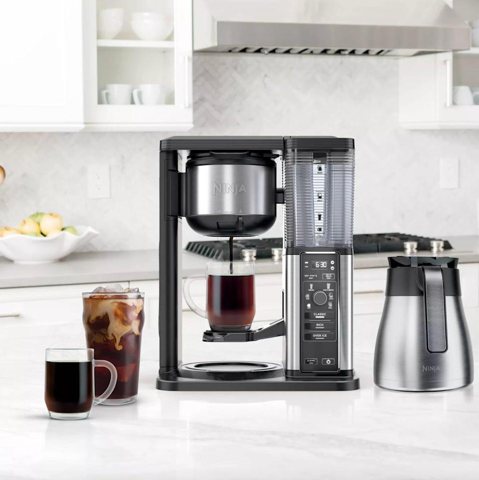 <p>Treat the coffee connoisseurs in your life to the ultimate gift, the <span>Ninja Hot &amp; Iced Coffee Maker</span> ($150). They never have to decide between a hot or cold brew with this gadget. The modern and sleek design will not only make your kitchen look swanky, but it's also perfect for a home filled with coffee-lovers. It's even a wedding-registry favorite.</p>