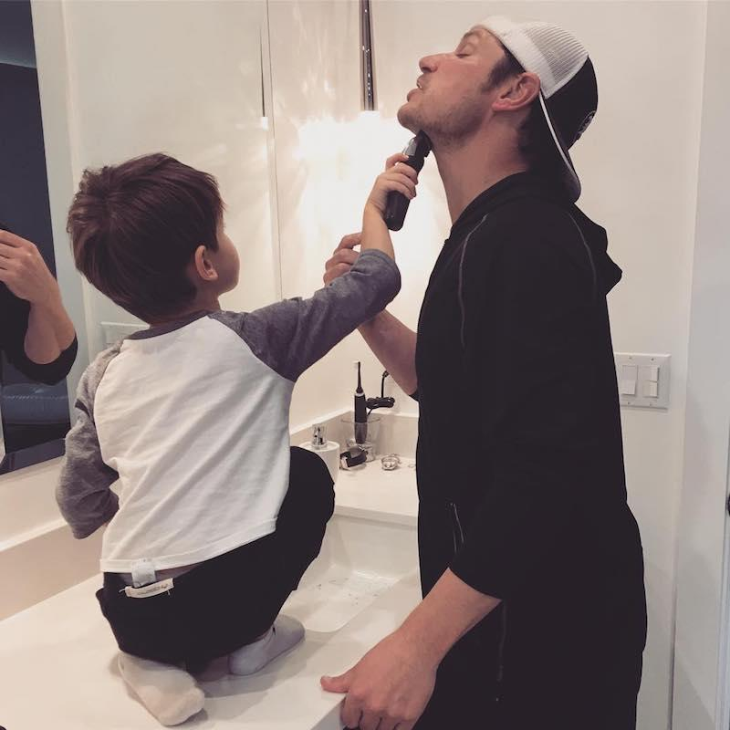 """<p>Getting ready for Valentine's Day was a family affair in the Lachey house. """"Tomorrow is Valentine's Day and Cam knows I like a clean shaven guy … so, he's helpin' Daddy out,"""" Vanessa captioned this cute pic of her boys. (Photo: <a rel=""""nofollow noopener"""" href=""""https://www.instagram.com/p/BQdb6xXA1bk/"""" target=""""_blank"""" data-ylk=""""slk:Instagram"""" class=""""link rapid-noclick-resp"""">Instagram</a>) </p>"""