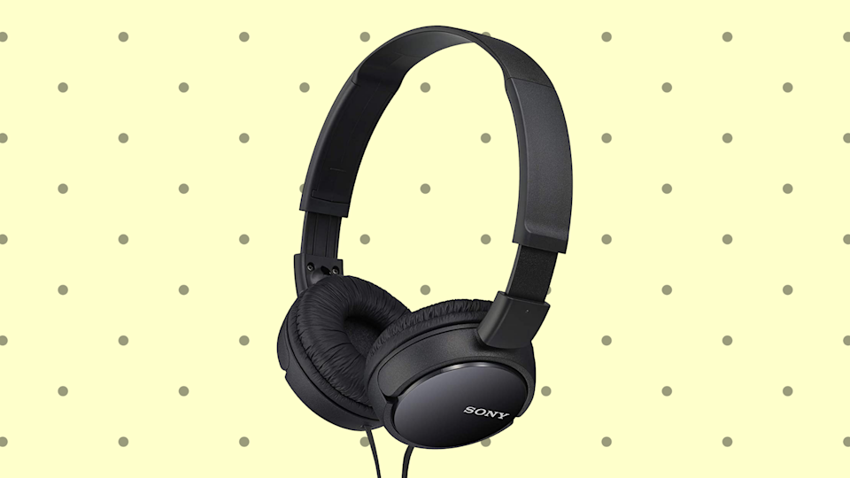 Save 40 percent on these Sony MDRZX110/BLK ZX Series Stereo Headphones. (Photo: Amazon)
