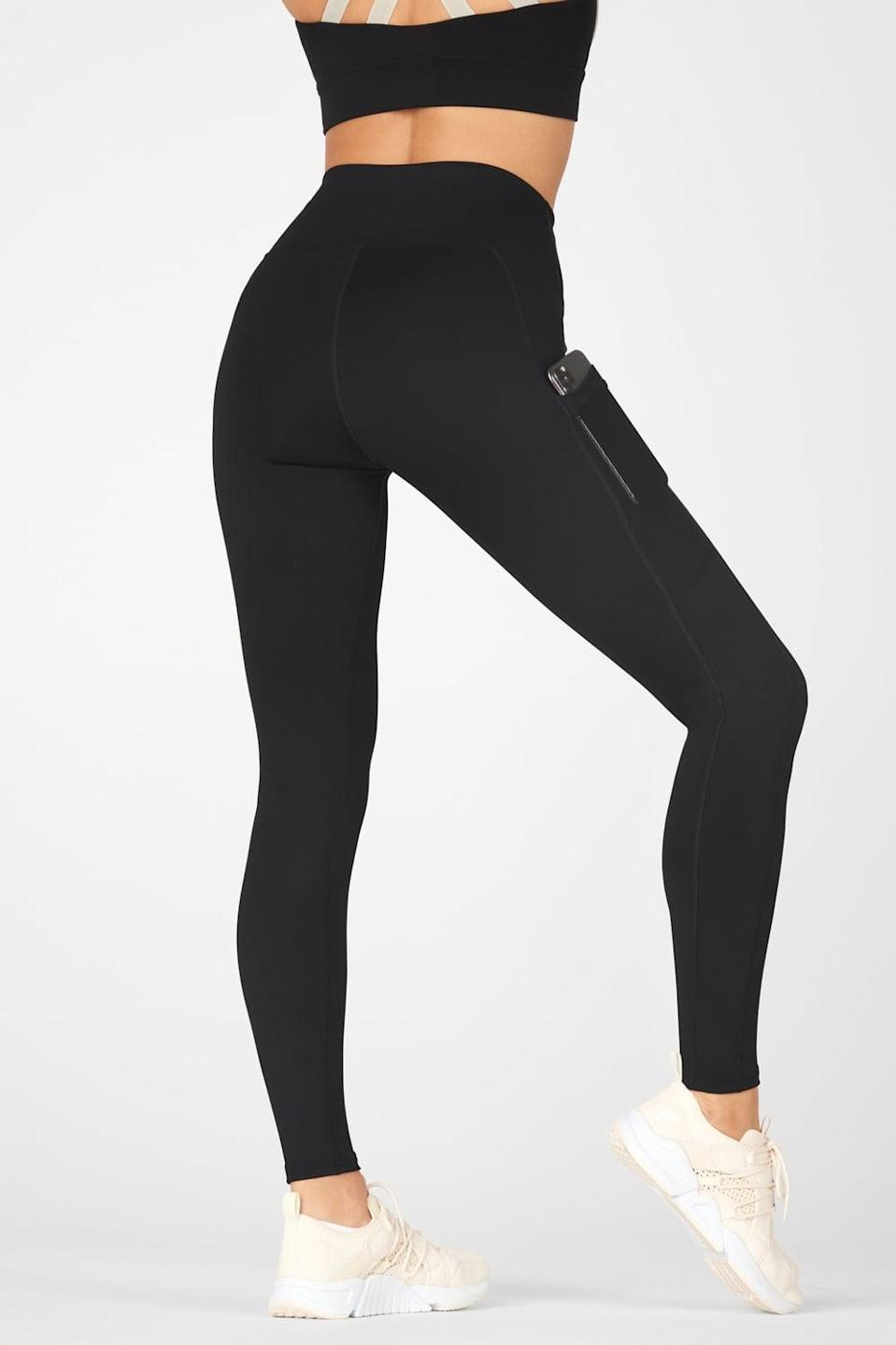 <p>The <span>Fabletics Mila High-Waisted Pocket Legging</span> ($55) comes in so many different colors, and has the essential side pockets. Plus, they make your butt look good.</p>