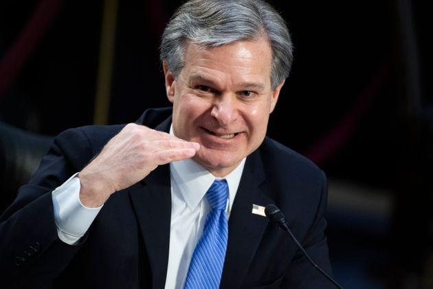 FBI Director Christopher Wray says the bureau has more than doubled the number of personnel investigating domestic terrorism threats. (Photo: Tom Williams via Getty Images)