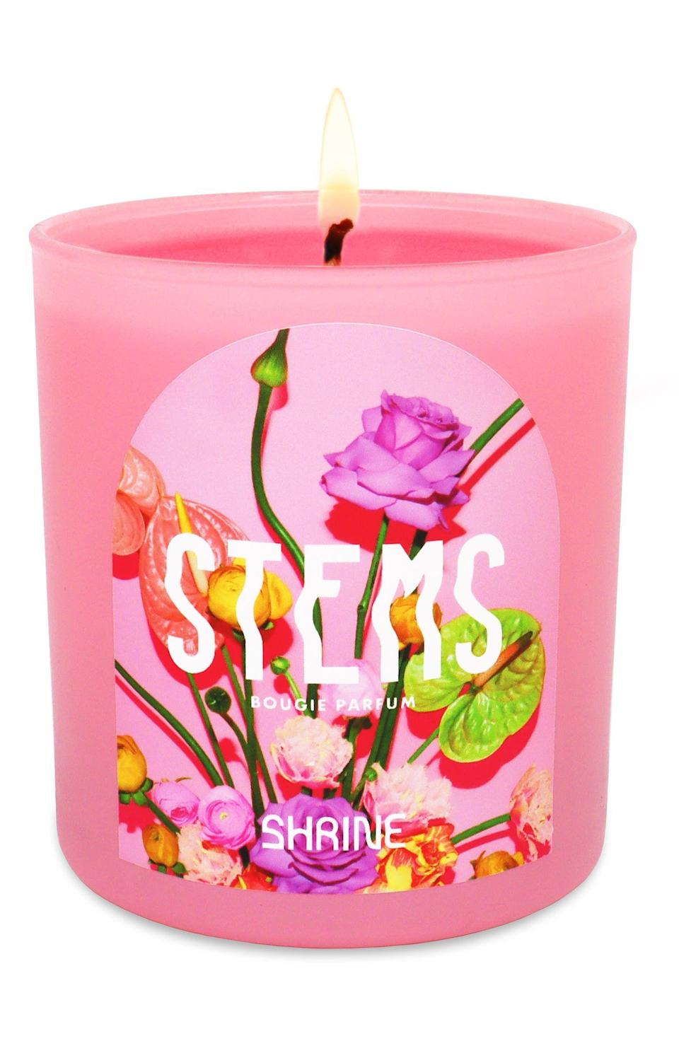 """<p><strong>SHRINE</strong></p><p><strong>$38.00</strong></p><p><a href=""""https://go.redirectingat.com?id=74968X1596630&url=https%3A%2F%2Fwww.nordstrom.com%2Fs%2Fshrine-stems-floral-scented-candle%2F5770797&sref=https%3A%2F%2Fwww.cosmopolitan.com%2Fstyle-beauty%2Fbeauty%2Fg4577%2Fvalentines-day-gifts-to-give-yourself%2F"""" rel=""""nofollow noopener"""" target=""""_blank"""" data-ylk=""""slk:Shop Now"""" class=""""link rapid-noclick-resp"""">Shop Now</a></p>"""