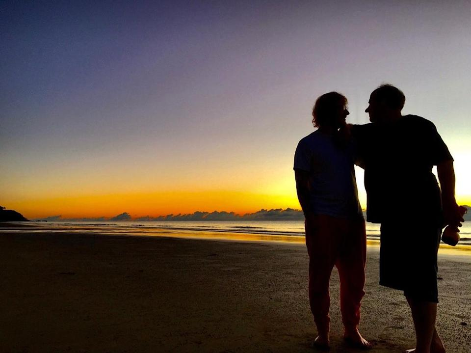 Ed Sheeran shared a shot of himself and Michael on a beach with the caption,