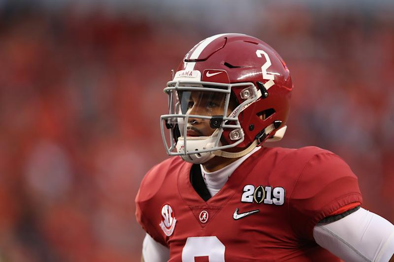 Alabama transfer Jalen Hurts has won the Oklahoma starting QB job and is on 2020 NFL draft radars. (Getty Images)