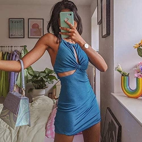 <p>For a night out, this <span>Lxxiashi Bodycon Halter Dress</span> ($19) will get you tons of compliments. The silky material and cool cutouts make it look much pricier than it is.</p>