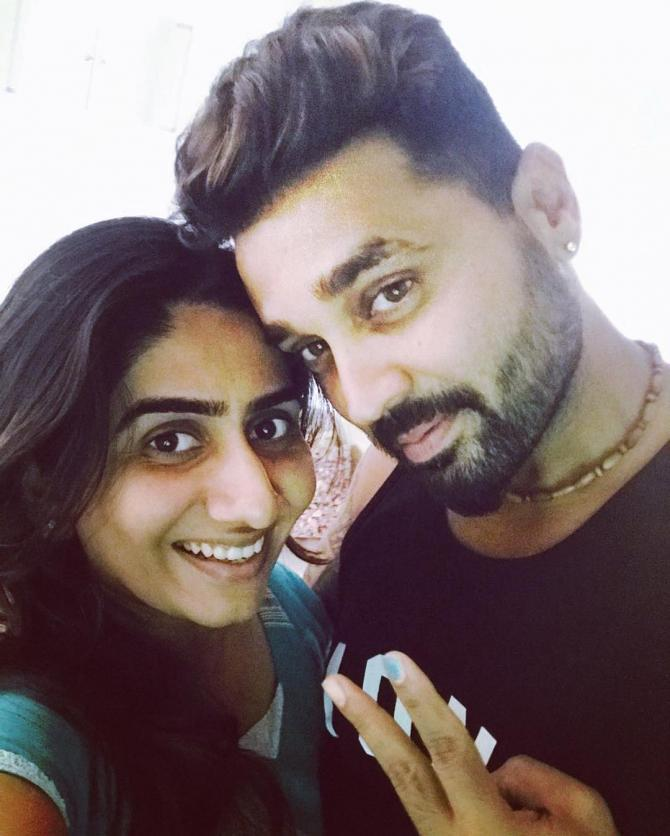 Murli Vijay and Nikita