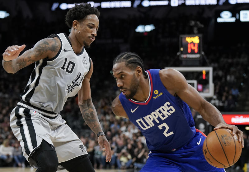 Image result for Clips dunk all over Spurs in Kawhi's first win back