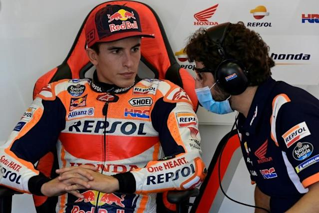 Marc Marquez is out of Sunday's race in Jerez (AFP Photo/JAVIER SORIANO)