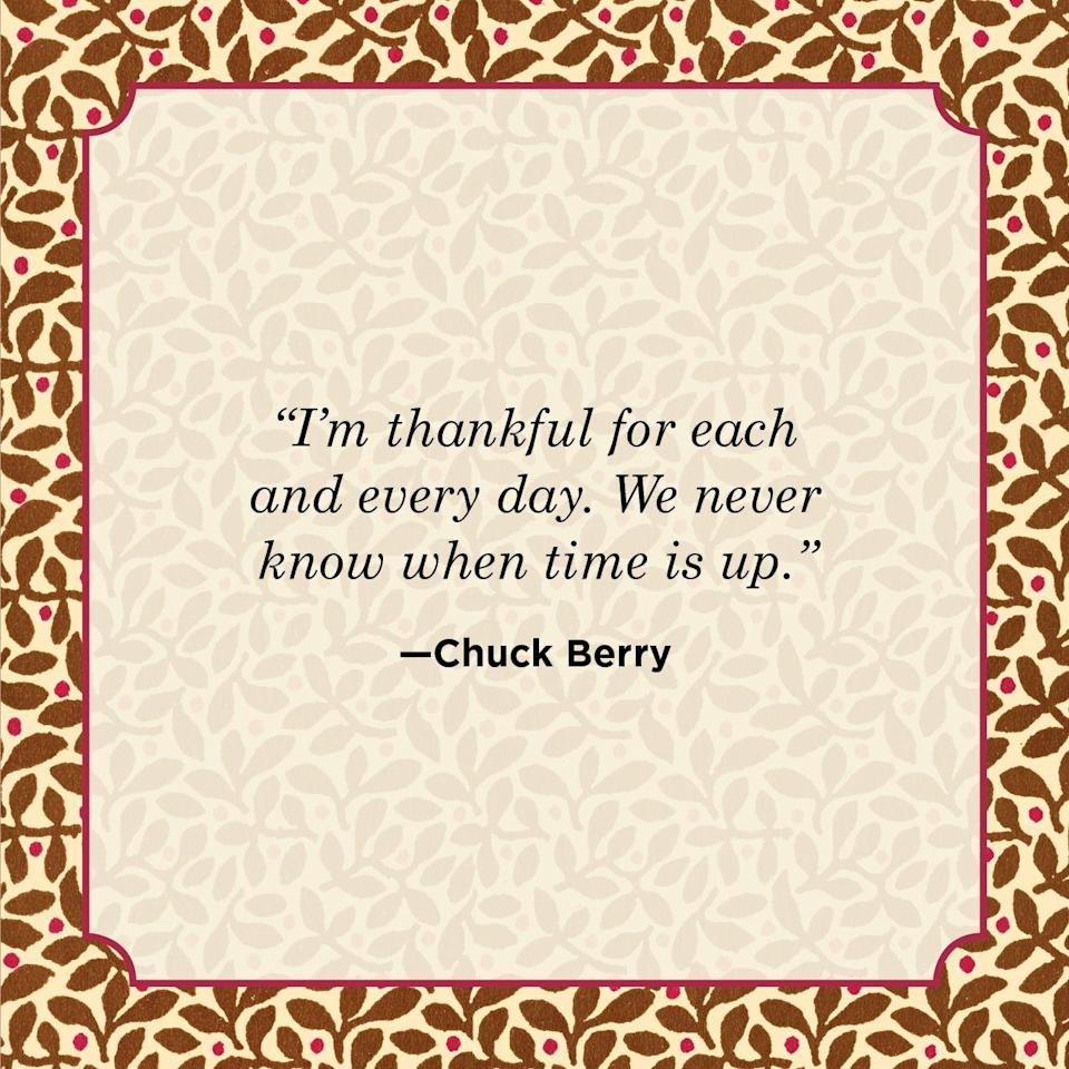 "<p>""I'm thankful for each and every day. We never know when time is up.""</p>"