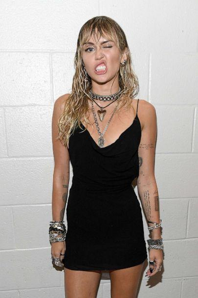 PHOTO: Miley Cyrus backstage during the 2019 MTV Video Music Awards at Prudential Center, Aug. 26, 2019, in Newark, N.J. (Kevin Mazur/WireImage/Getty Images)