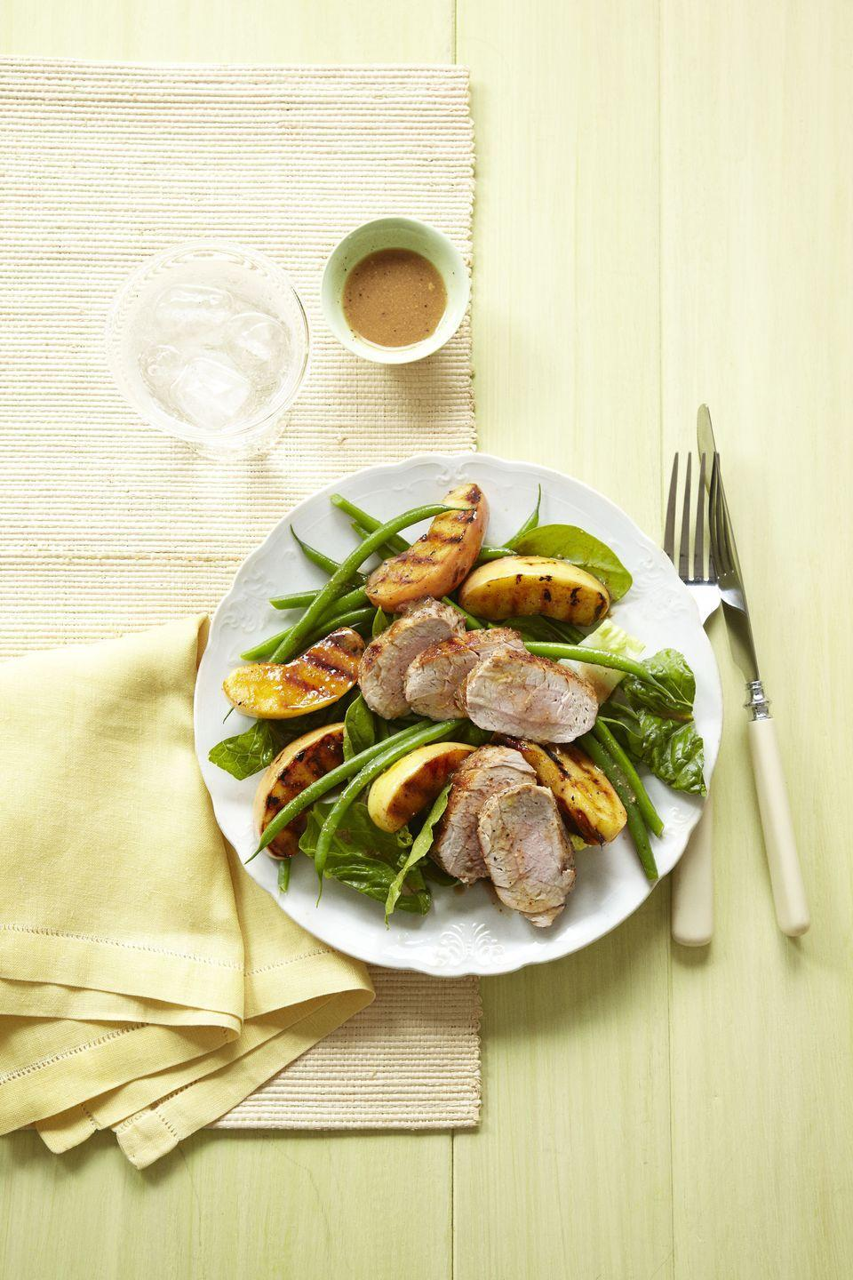 "<p>Give the classic combo a smoky, gourmet update by grilling the apples instead of turning 'em into sauce.</p><p><a href=""https://www.goodhousekeeping.com/food-recipes/a13772/grilled-pork-apple-salad-recipe-ghk0912/"" rel=""nofollow noopener"" target=""_blank"" data-ylk=""slk:Get the recipe for Grilled Pork and Apple Salad »"" class=""link rapid-noclick-resp""><em>Get the recipe for Grilled Pork and Apple Salad »</em></a></p>"