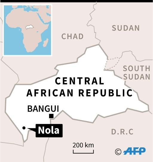 Map of Central African Republic locating Nola, where a 77-year-old nun was murdered, the Vatican said