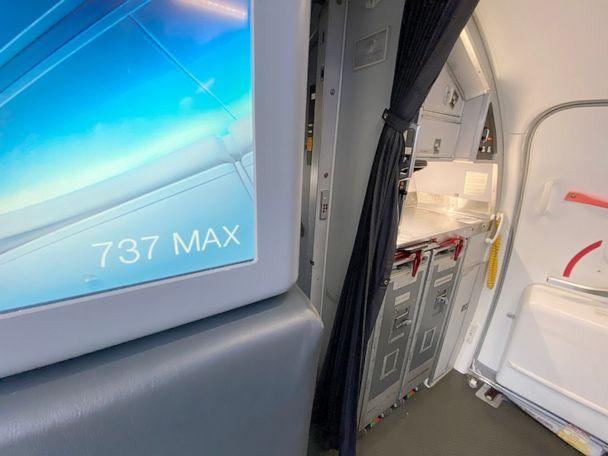 PHOTO: American Airlines flew members of the media on a Boeing 737 Max Wednesday in an effort to reassure passengers that the upgraded plane is safe after a nearly two year grounding, Dec .2, 2020. (Sam Sweeney/ABC News)